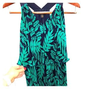 NWT Banana Republic palm leaf dress